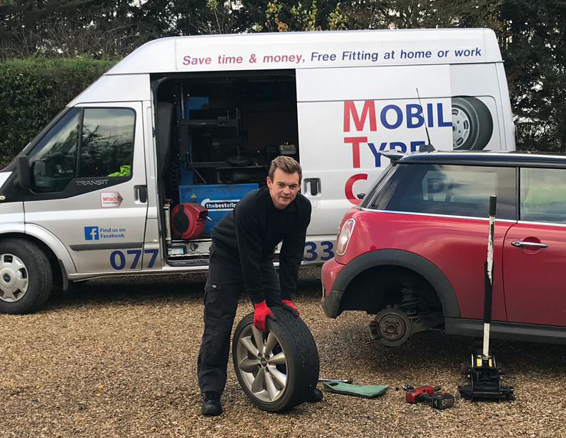 josh fitting mobile tyre punctures suffolk