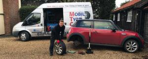 mobile tyre fitting mini bmw tyres